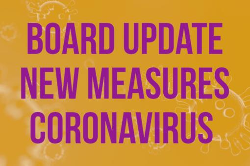 board update new measures coronavirus