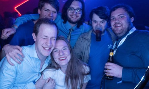 Picture of a group of participants during a party